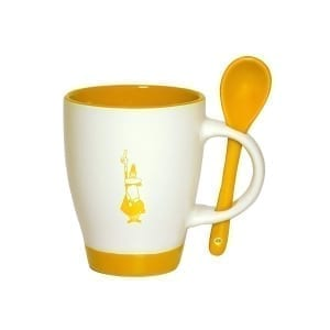 Bialetti mug & spoon yellow